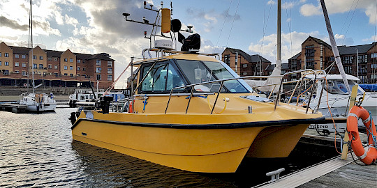 ' Pulsar', SEP Hydrographic's dedicated road transportable survey vessel.