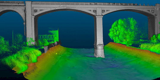 Asset Inspection Data - 3D Scanning sonar, Multibeam echo sounder, laser scanner data.